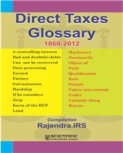 Direct Taxes Glossary (1860-2012)